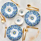 Van Gogh 18 Parça 6 Kişilik Yemek Takımı Stoneware Mavi