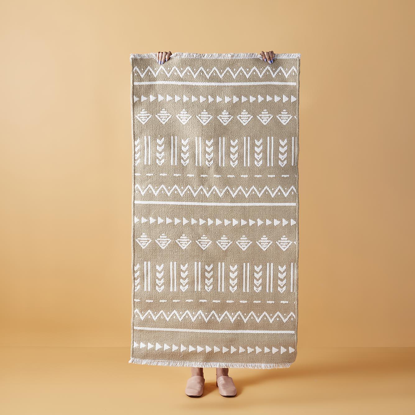 Arlo Çift Taraflı Kilim Beyaz (120x180 cm)