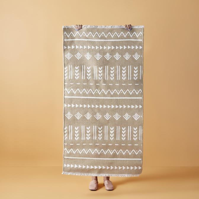 Arlo Çift Taraflı Kilim Beyaz (60x90 cm)