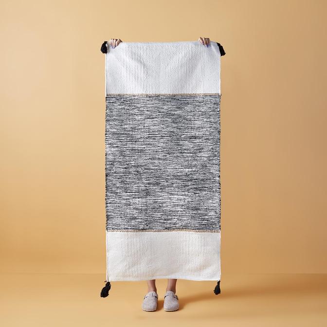 Marble Kilim Siyah (60x90 cm)