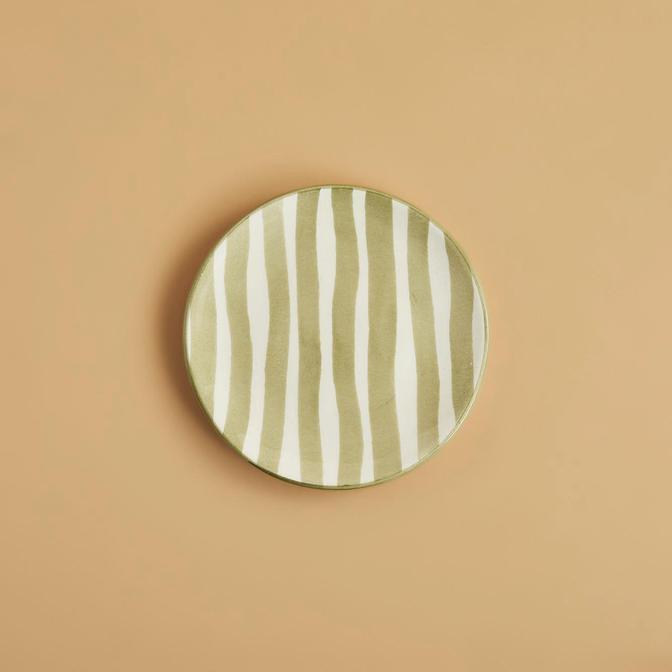 Natura Tatlı Tabağı 6'lı Haki (16 cm)