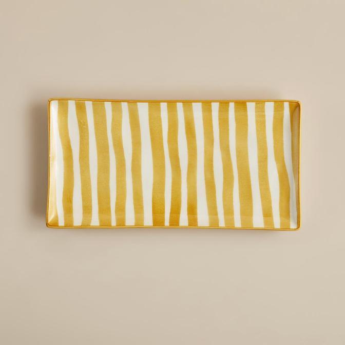 Natura Sunum Tabağı Sarı (29x15 cm)