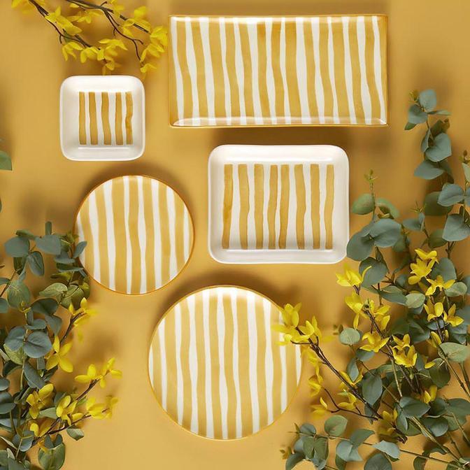 Natura 10 Parça 4 Kişilik Kahvaltı Takımı Sarı