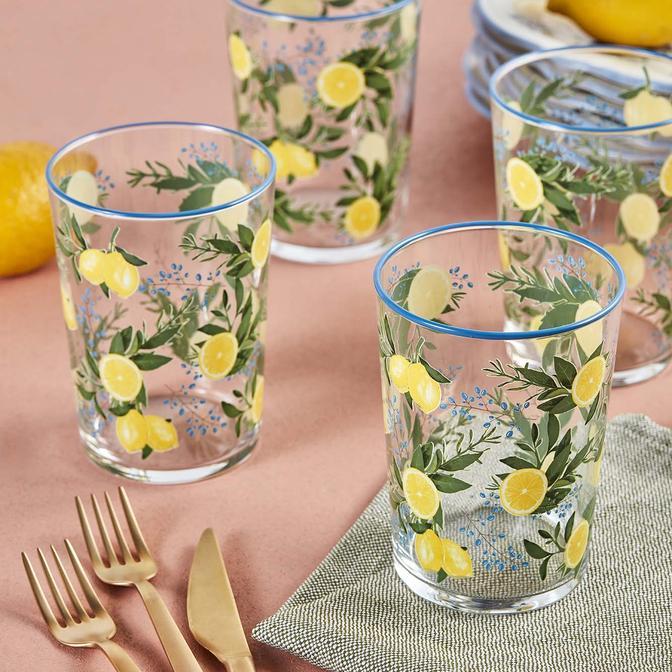 Lemonade 4'lü Meşrubat Bardağı Sarı (510 cc)
