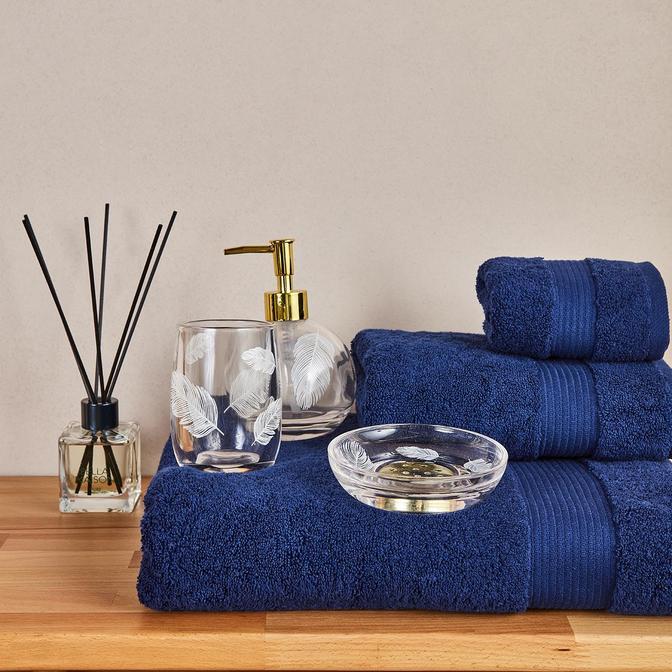 %100 Pamuk Premium Banyo Havlusu Lacivert (90x150 cm)
