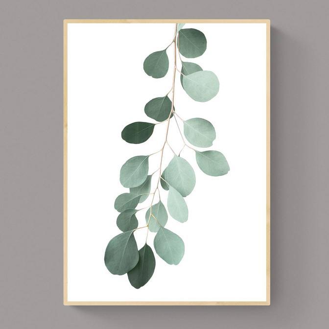 Green Flower Çerçeveli Tablo Naturel (33x48 cm)