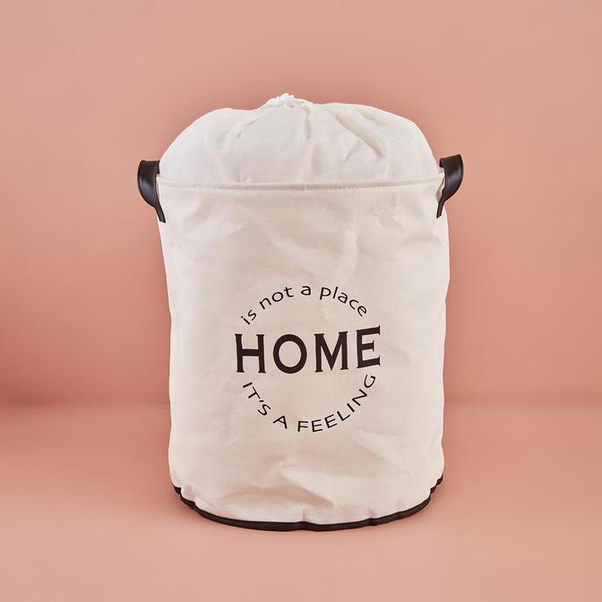Home Su Geçirmez Tabanlı Çamaşır Sepeti Beyaz (36x40 cm)