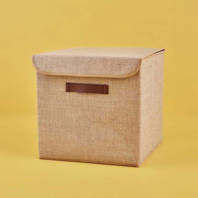 Jüt Kapaklı Kutu (30x30x30 cm)