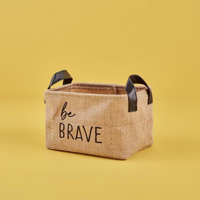 Be Brave Jüt Dikdörtgen Sepet Naturel (24x17x14 cm)